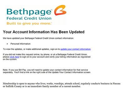 Bethpage Fraud Example 5