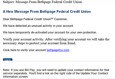 Bethpage Fraud Example 6