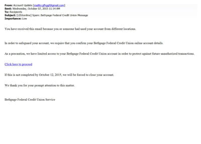 bfcu service spam email small