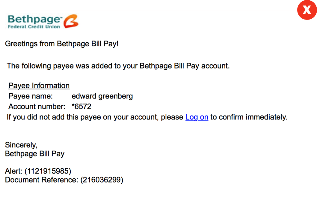 Bill Pay Fraud Email large
