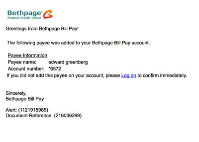 Bethpage Fraud Example 13
