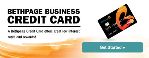 Business credit card landing page banner