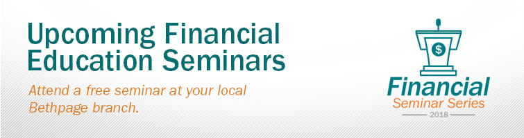 Upcoming Financial Seminars banner